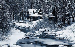 Paisaje de nieve con contraste