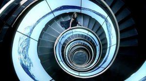 Fotografía de escaleras espiral