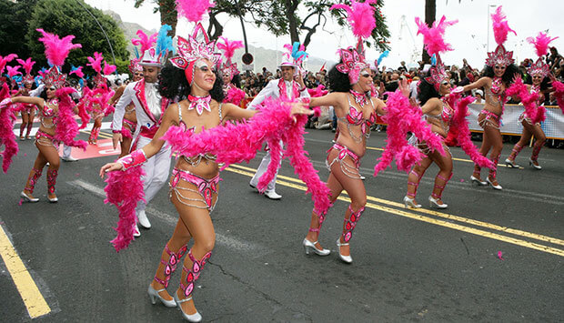 Coreografía del desfile