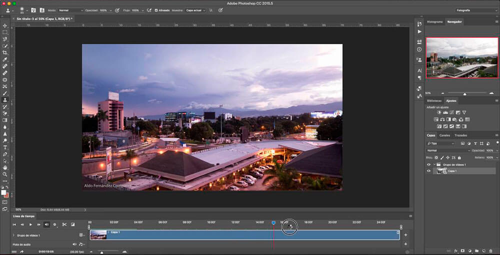 Edición de un Time Lapse con photoshop