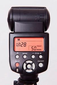 Modo manual del flash externo de la cámara