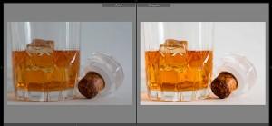 Edición de imagen del antes y el después
