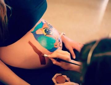 Belly painting en Granollers