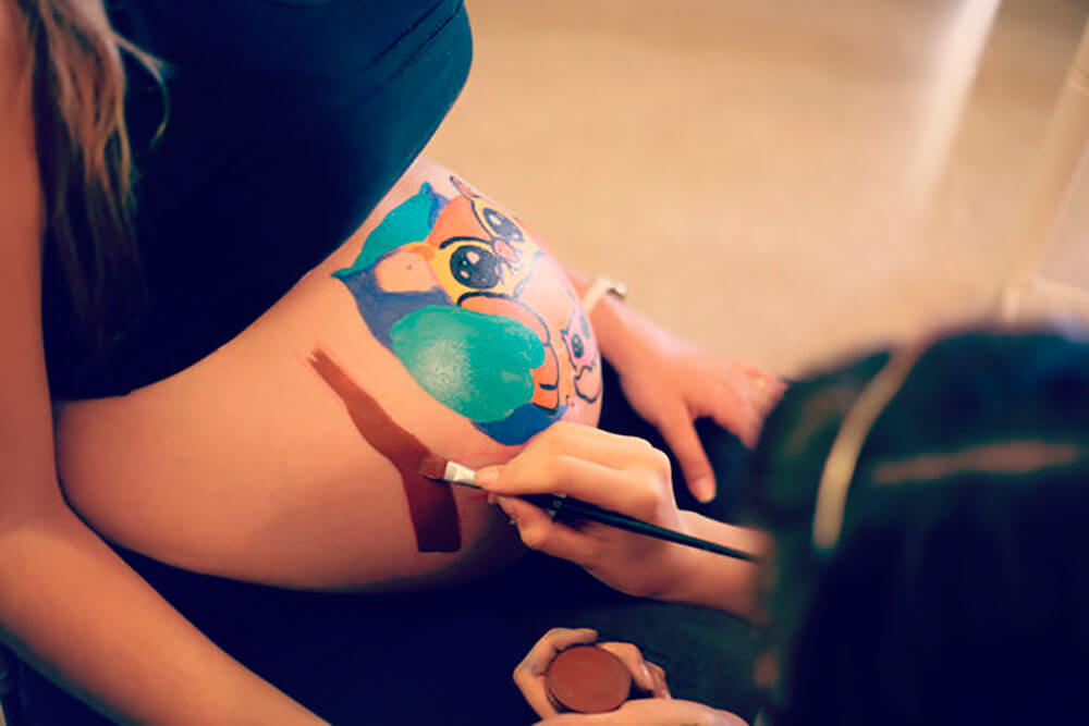 Belly painting en Granollers