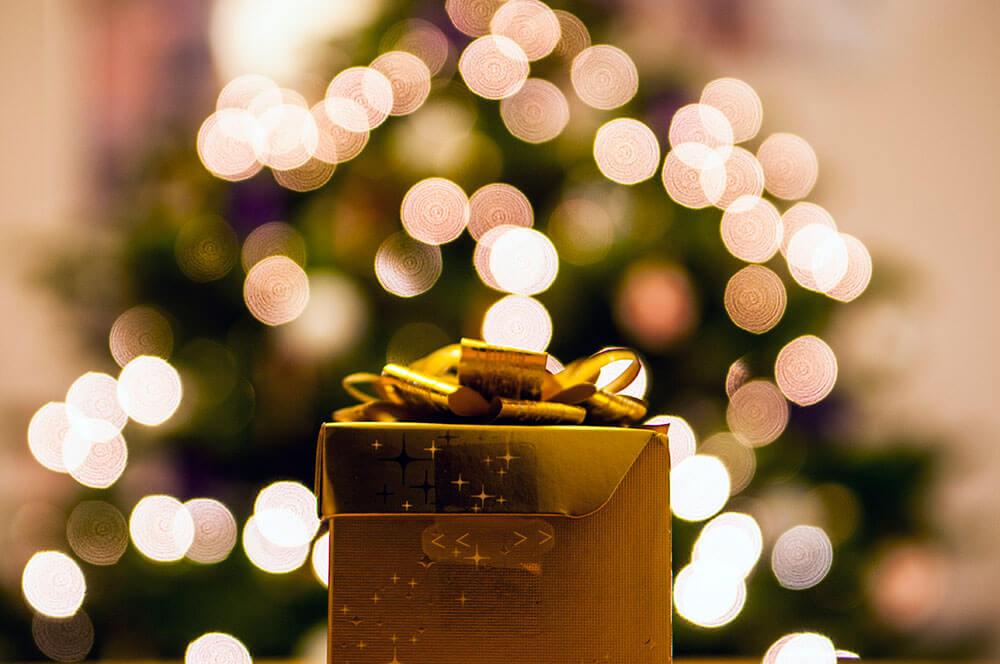 Detalles de los regalos en navidad.