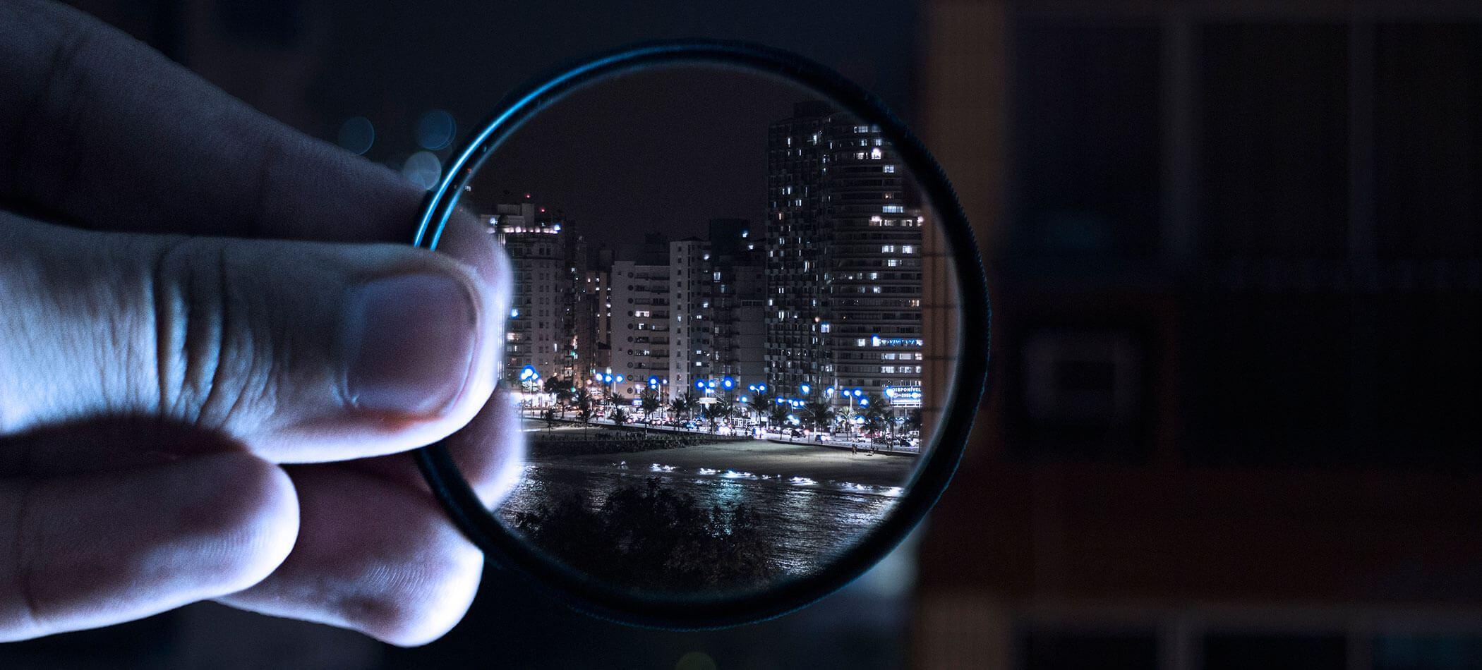 Fotografía con filtro polarizado en la ciudad
