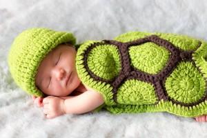 Fotografía de recién nacido en casa.