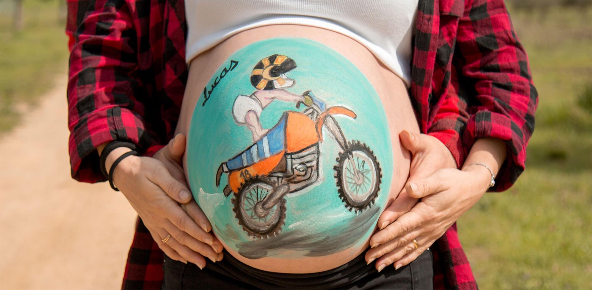 Sesión fotográfica de embarazada